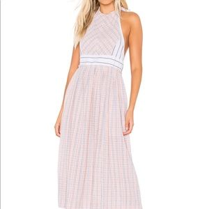 FREE PEOPLE Color Theory Midi Dress in Pink